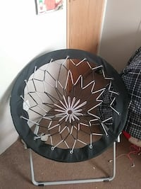 round black and white floral print moon chair Stevensville, 21666