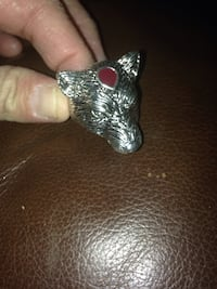 Goldtone Wolf Head Men's Ring Size 10 Arlington, 22203
