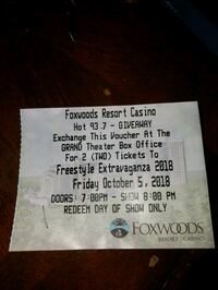 2 TICKET VOUCHER OCT 5 - FREESTYLE EXTRAVAGANZA