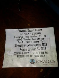 2 TICKET VOUCHER OCT 5 - FREESTYLE EXTRAVAGANZA   43 km