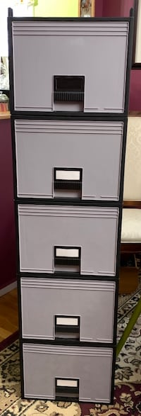 5 Storex stackable file storage drawers East Meadow, 11554