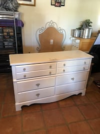 Bedroom Dresser White with mirror Corpus Christi, 78412