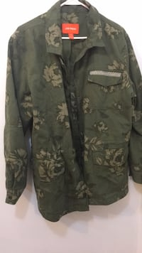 Black and gray camouflage zip-up jacket Richmond Hill