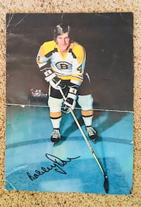 Bobby Orr NHL 1960s Autographed Bobby Oar photo. Redding, 96002