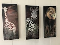 Set of 3 animal canvases Catonsville