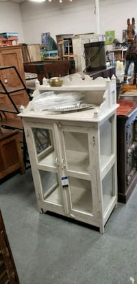 Hand painted solid wood cabinet with glass doors  Orlando, 32807