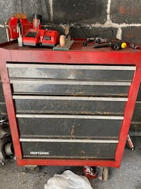 Craftsman tool chest, tools, car parts (weekend pickup only)