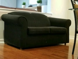 FOR SALE!!! Black Love Seat Couch