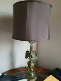 stainless steel base with brown lampshade table lamp Henderson, 89074