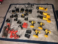 25 piece Dewalt power tool set, plus black & Decker tools $160!!! Stockton, 95219