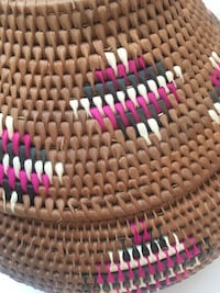 Large woven tribal rustic basket