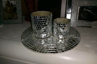 Candle holder decor with plate Calgary, T2K 3Y4