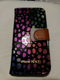 black and pink floral iPhone case Bay Shore, 11706