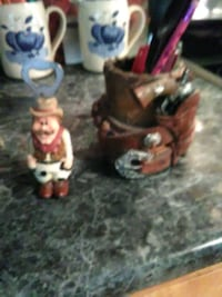 Old cowboy bottle opener and pencil holder New Llano, 71461
