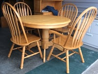 """Solid Wood 42"""" Table Set"""