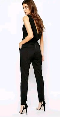 BRAND NEW with tags ASOS cowl back black jumpsuit