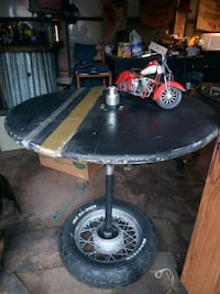 round black metal table and red chopper motorcycle scale model Abilene, 79602