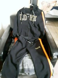 black and yellow love sweatsuit Evansville, 47711