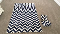 3 Navy and Beige Chevron Curtains Saint Johns, 32259