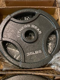 Set of 35lb olympic plates