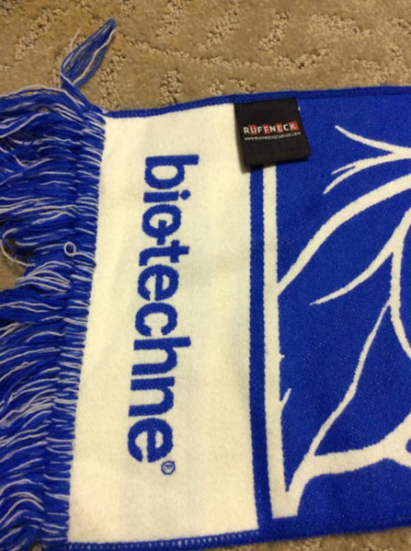 JUST REDUCED blue and white scarf  d55e6999-307f-4a03-9a7a-d445895fed6f