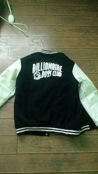 black and white billionaire boys club letterman jacket Temecula, 92592