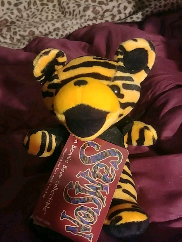 Used Black And White Tiger Plush Toy For Sale In Los Angeles Letgo
