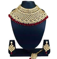 Indian bridal party wear necklace set with tikka Brampton, L6Z 2R2