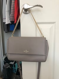 Authentic Kate Spade Gray with golf chain small purse or clutch