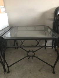 LARGE GLASS AND IRON END TABLES Berrydale, 98042
