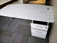 Great deal. Modern office desk with drawer and file drawer