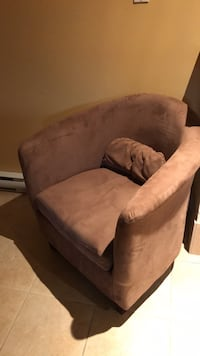 brown fabric padded sofa chair Laval, H7E 4P2