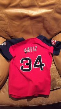 Blue and red ortiz 34 jersey shirt