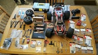 red and black R/C toy monster truck