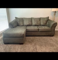 Olive green 7 ft wide couch !