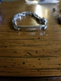 "Sterling bracelet engraved with ""ginny"" Lee's Summit"