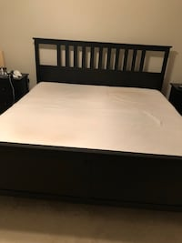 Ikea king size bed with 2 nightstands. Aldie, 20105
