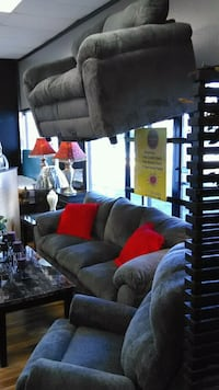 Used Cozy Grey Nice Couch And Loveseat For Sale In