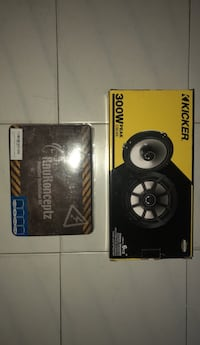 Black and gray kicker subwoofer with box Nueva York, 11421