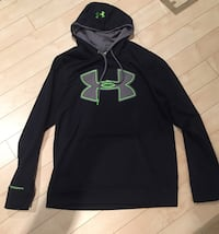 black and gray Under Armour pullover hoodie