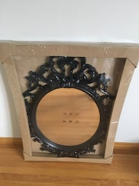 black wooden framed wall mirror Kitchener, N2G 3J8