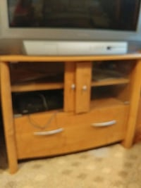 brown wooden TV hutch with flat screen television Huntington Station, 11746