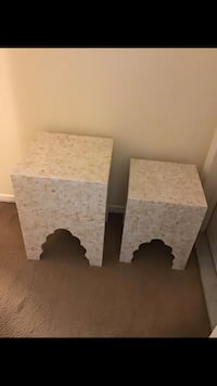 Set of 2 handcrafted mosaic tables new click on my profile picture on this page for more listings interested message me pick up in Gaithersburg Maryland 20877 all sales final  Gaithersburg, 20877