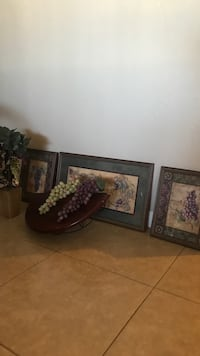 three black wooden framed paintings Tucson, 85706
