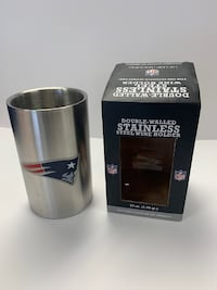 Patriots Double Walled Stainless Steel Wine Holder NFL - NEW Bethesda