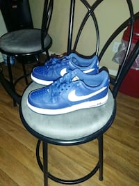 blue-and-white Nike Air Force 1 shoes Las Vegas, 89103