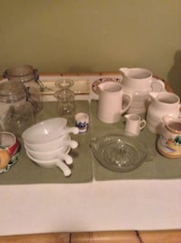 Vintage items. Stoneware pitchers, juicer, egg cups, soup bowls, etc. Ottawa, K1Y