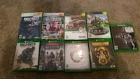 assorted Xbox One game cases Puyallup, 98372