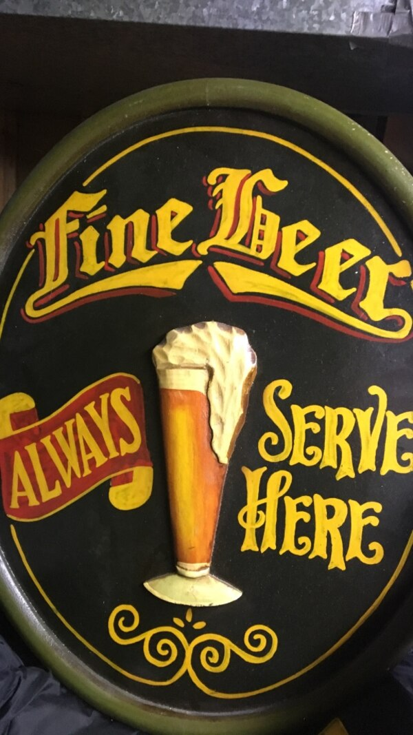 fine beer sign for anyone who wants to add to their man cave