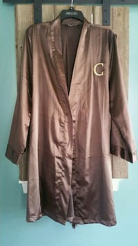 Brown Silky Robe with Gold C Monogram and Pockets Norristown, 19403